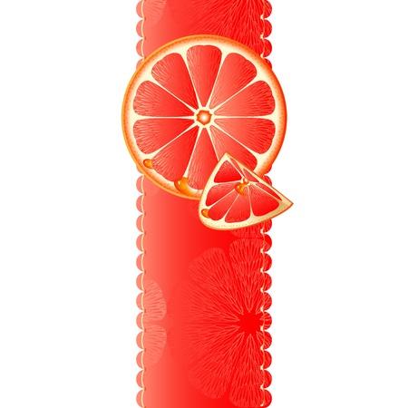 Vertical banner with juicy slices of grapefruit Stock Vector - 14180800