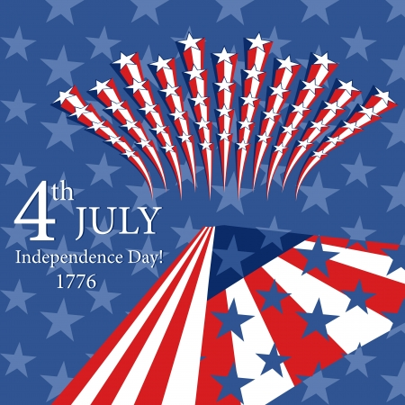 Happy Independence Day with star and flag  Can be use as card, poster and flayer Vector