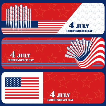 Banner July 4 Independence Day  Vector