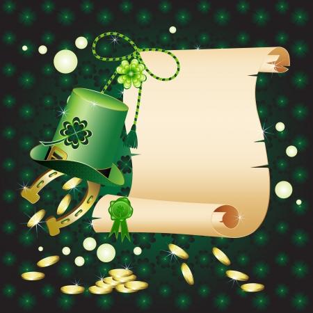 st patric: St  Patrick s Day card design  Illustration