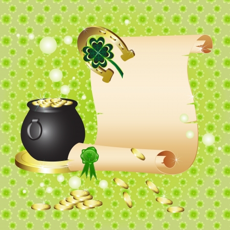 St  Patrick s Day card design  Vector