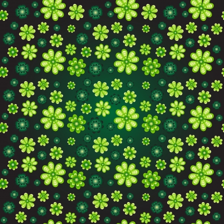 four texture: Seamless pattern with clover