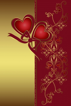 The Valentine s day card  Vector