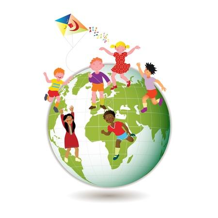 kids holding hands: Children Around the World