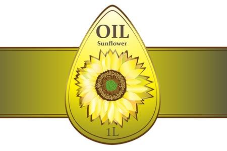 Ontwerp labels zonnebloemolie