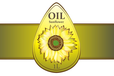 L'huile de tournesol Conception des étiquettes