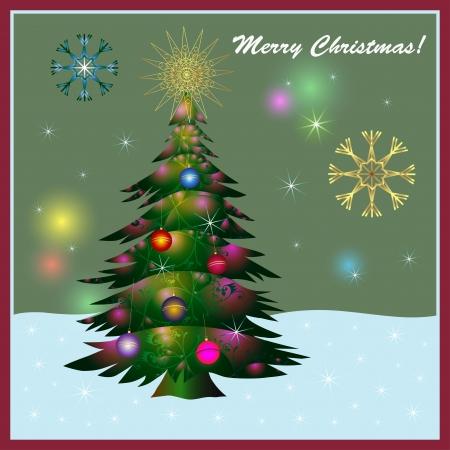 happy seasonable: Christmas card