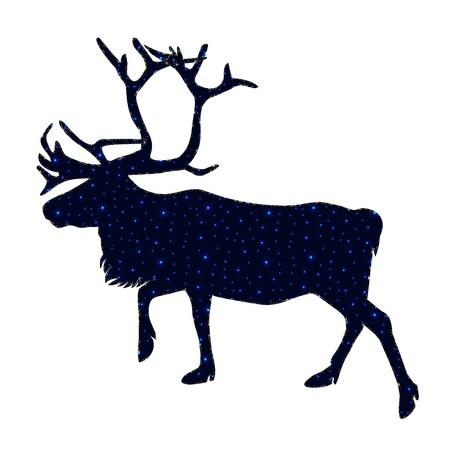 Reindeer with snowflakes