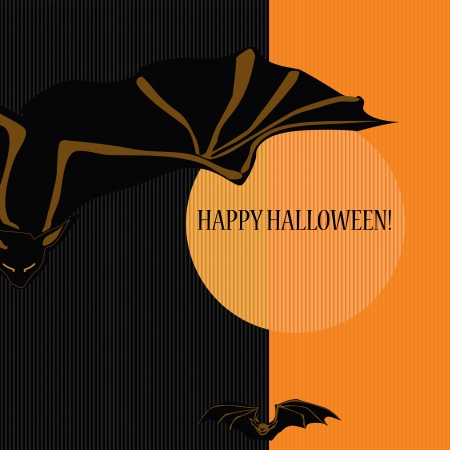 Halloween with bats  Can be used as card, background and poster   Stock Vector - 15285774