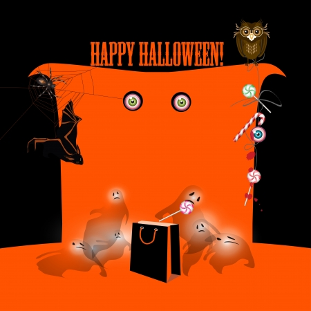 Halloween banner, card or poster Vector