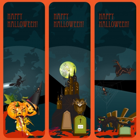 Halloween banners set Stock Vector - 15398632