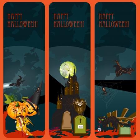 Halloween banners set Stock Vector - 15398632