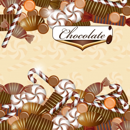 candy bar: Background with chocolate candy