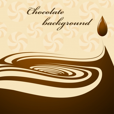 chocolate swirl: Chocolate background Illustration