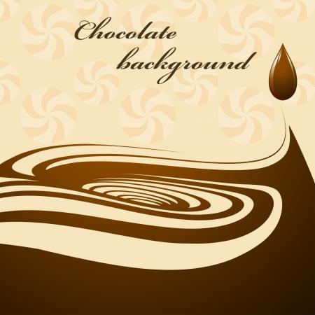drippings: Chocolate fondo Vectores