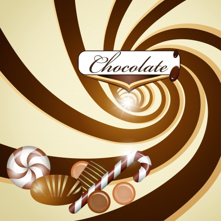 dripping chocolate: Chocolate background and candy