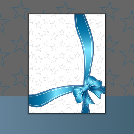 traditional events: Card or invitation with blue ribbon