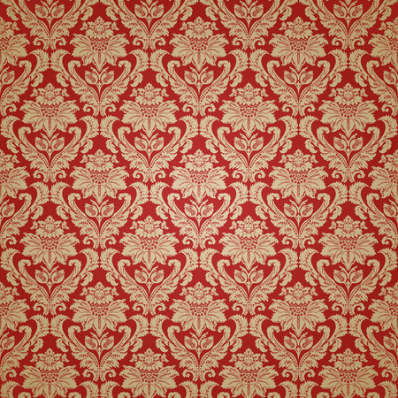 Beautiful red damask seamless pattern background  Elegant luxury texture for wallpapers, backgrounds and page fill