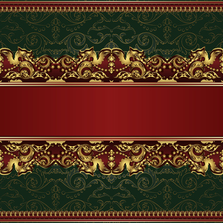 Beautiful vintage background with seamless pattern Vector