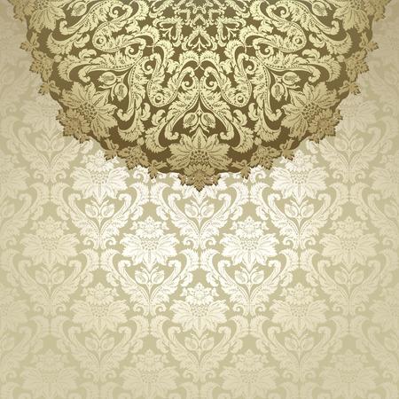 diameter: Vintage background, carta di invito con ornamento floreale