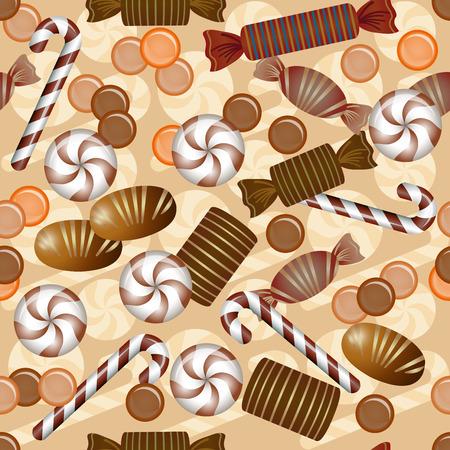 cioccolato natale: Dolce seamless con cioccolatini
