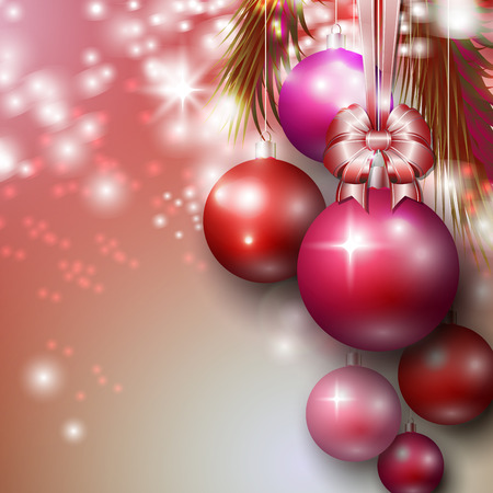 christmas baubles: Beautiful background with Christmas baubles