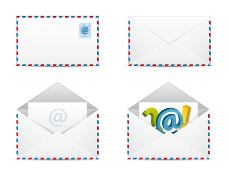 Set of Envelope Newsletter   Icons Stock Vector - 17068644