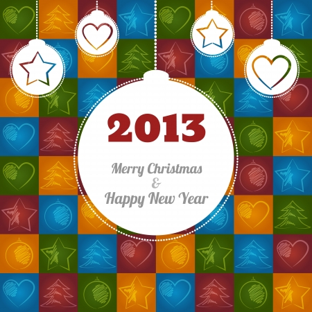 Vector Christmas Greeting Card Illustration