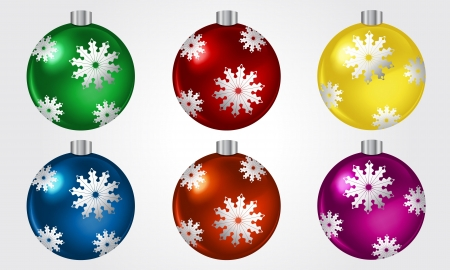 Set of Colorful Christmas Balls Stock Vector - 17129143