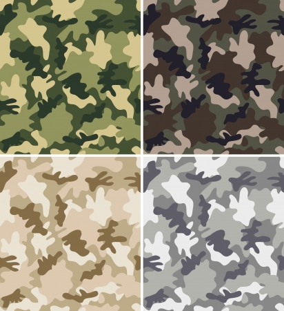 urban jungle: Set of Seamless Camouflage Patterns