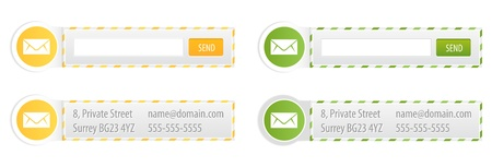 Set of Newsletter Forms and Contact Boxes Stock Vector - 17304622