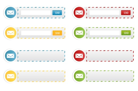 Set of Newsletter Forms and Contact Boxes