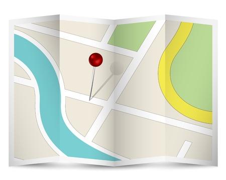 Kaart icoon met Red Pin