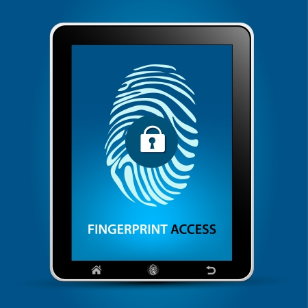 Fingerprint Safety Technology Concept Vector