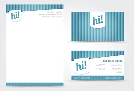 Letter and Business Card Template Vector