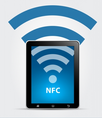NFC Near Field Communication Concept Vector