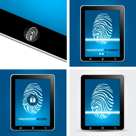 Fingerprint Scanning Device Concept Vector