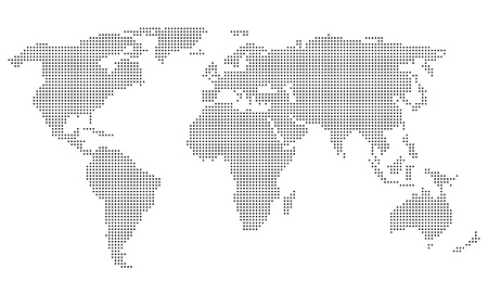 Dotted World Map Stock Vector - 18145687