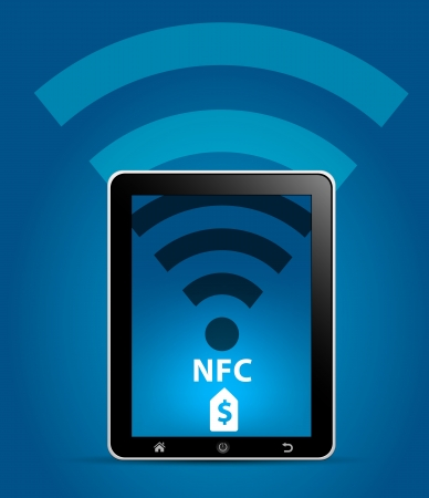 NFC Near Field Communication Concept Stock Vector - 18290322