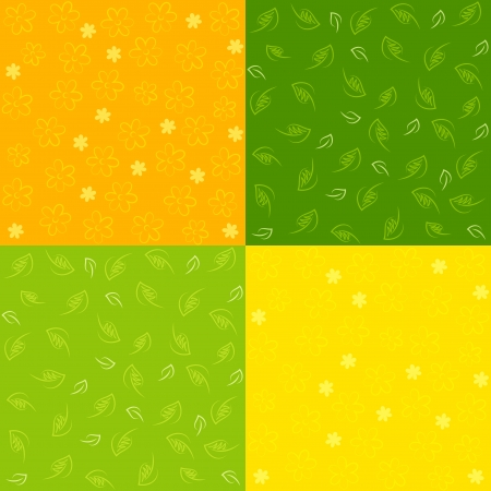 Set of Spring Seamless Patterns