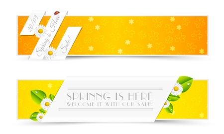 Set of Natural Spring Banners Stock Vector - 18523967
