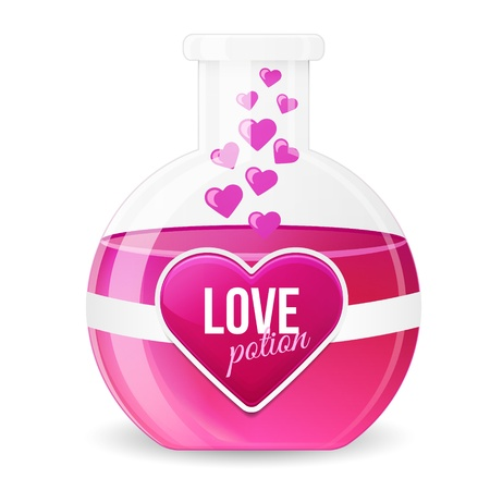 Love Potion Illustration. Pink Drench Vector