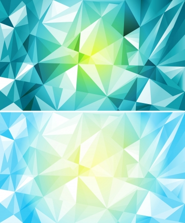 Set of colorful polygon abstract background