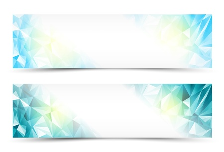Polygon Abstract Banner Set or Website Header Stock Vector - 21933695