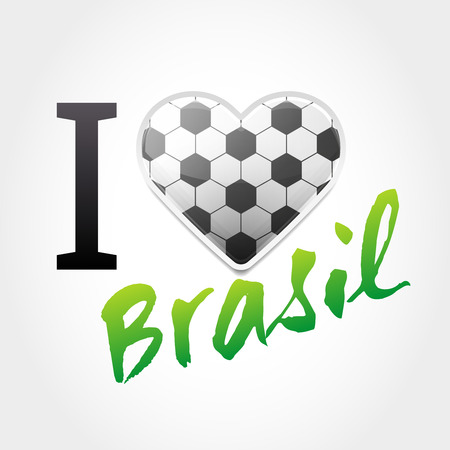 i love Brazil Promotional Sign Illustration