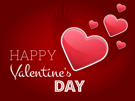 Valentine Love Background with Heart Shape