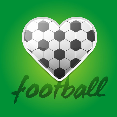 Football Love Backround with Ball Pattern