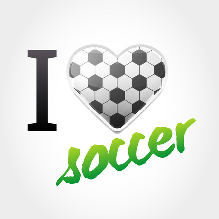Soccer Love Backround with Ball Pattern Heart