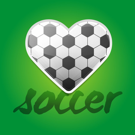 Soccer Love Backround with Ball Pattern Illustration