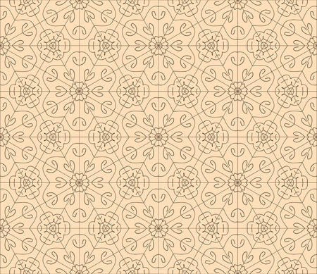 orient: Seamless floral background in orient style. EPS8
